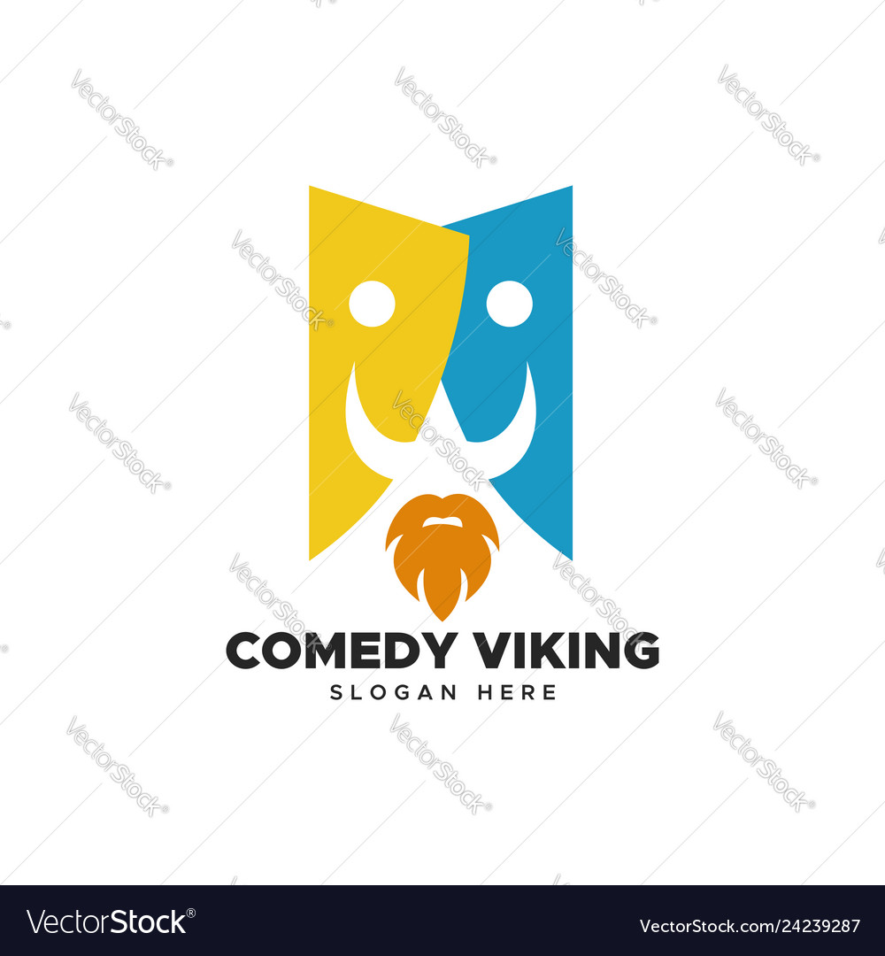 Comedy viking logo