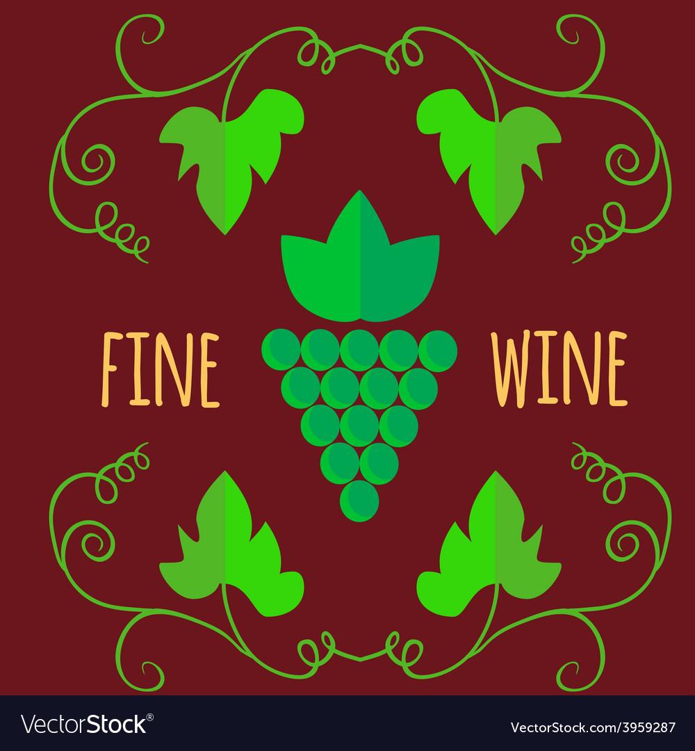 Flat style wine shop set vector image