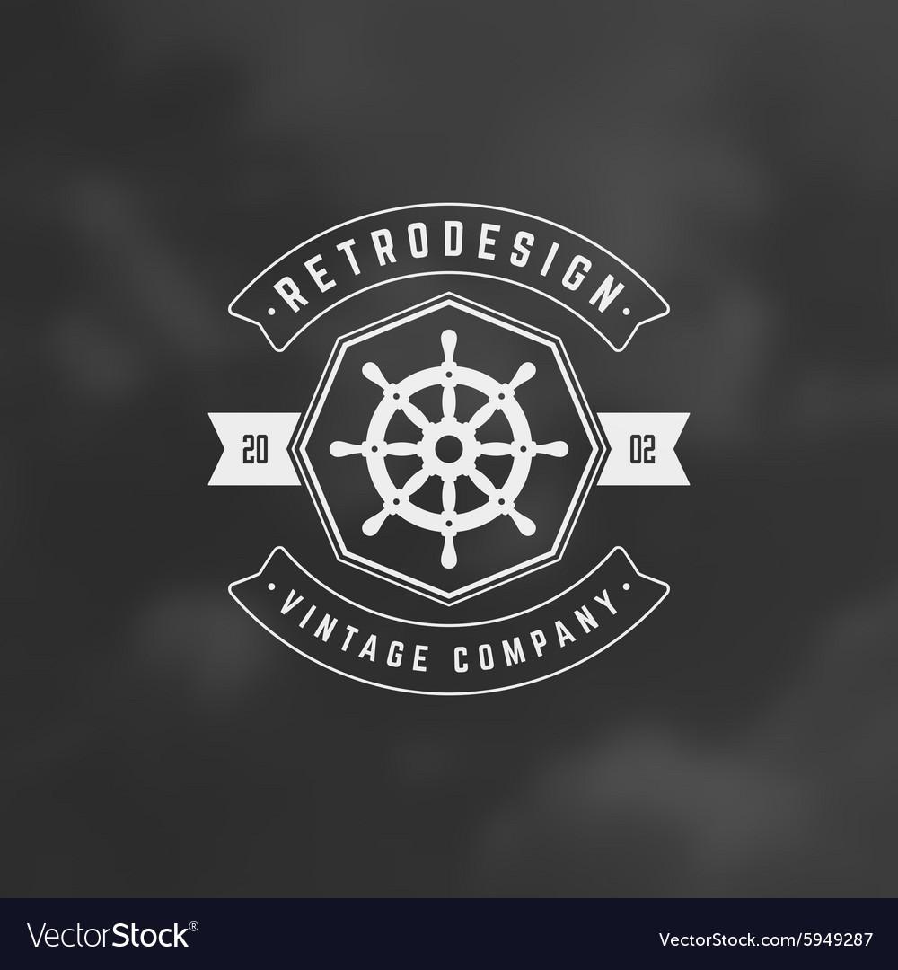 Nautical Retro Vintage Insignia Logotype