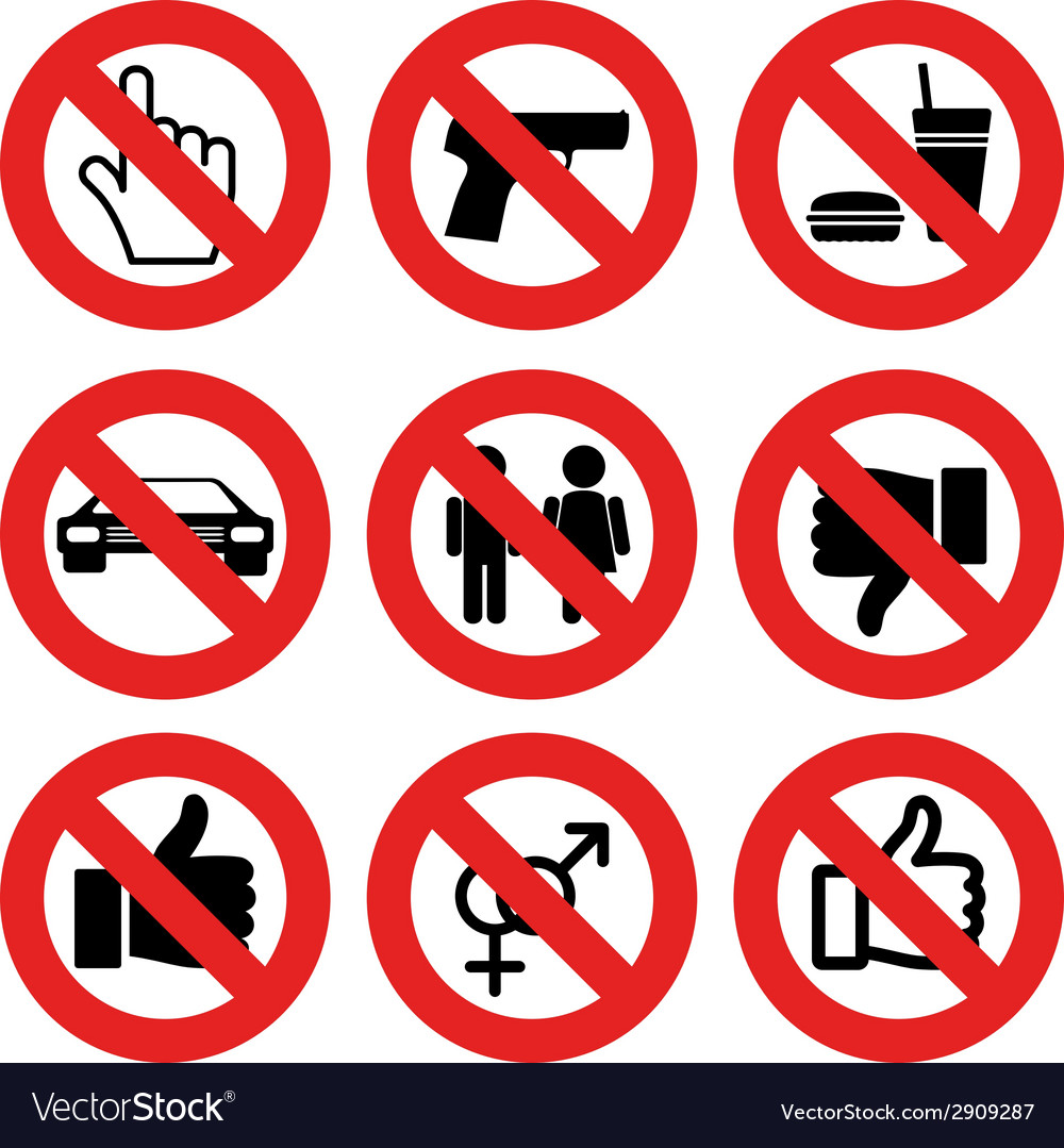 No allowed marks vector image