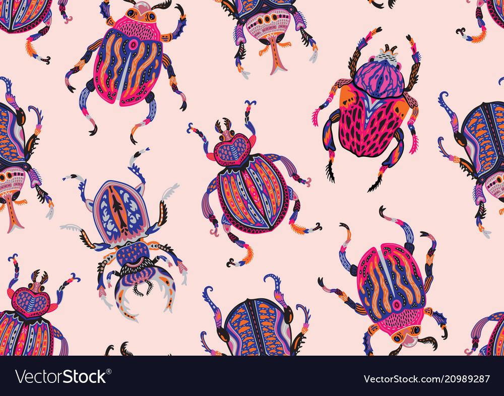 Seamless pattern with decorative ornamental