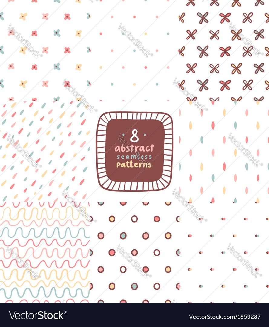 Simple abstract patterns set vector image