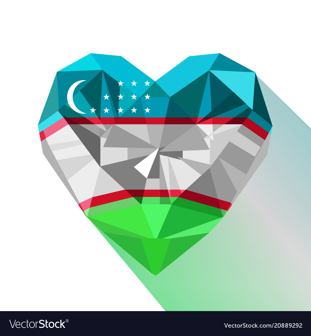 Crystal heart of the republic of uzbekistan