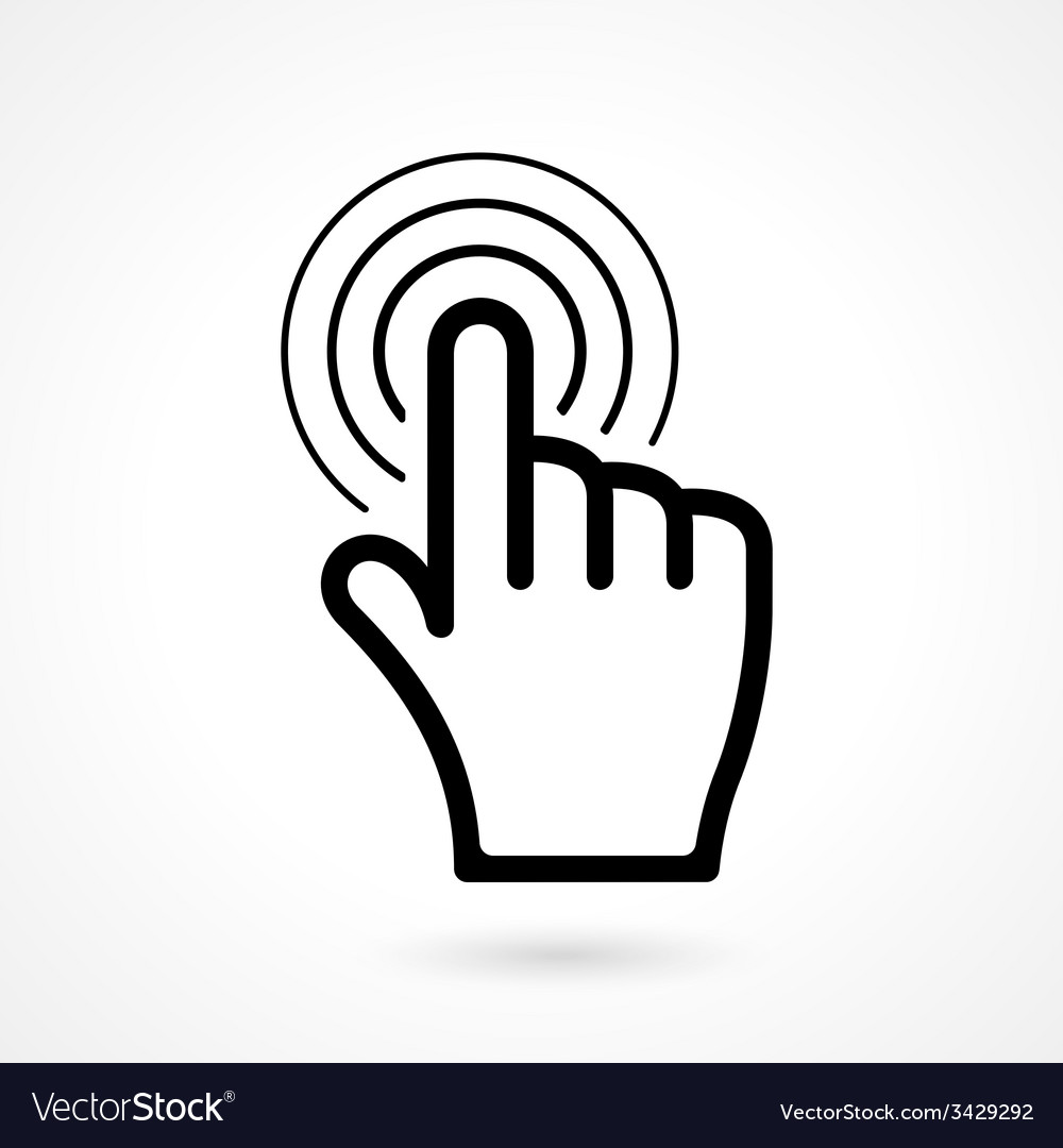 Hand click or pointer icon