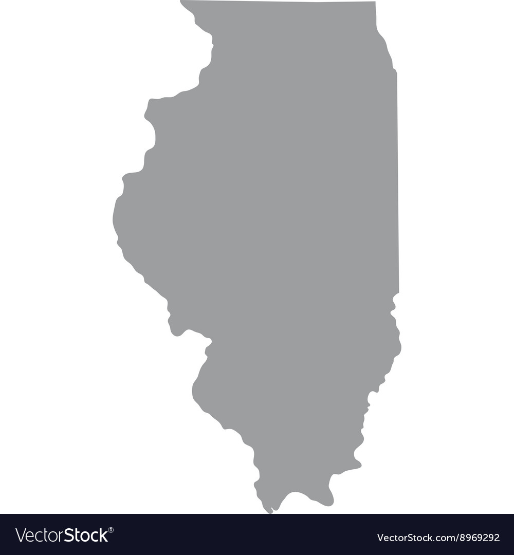 Map Of The Us State Of Illinois Royalty Free Vector Image