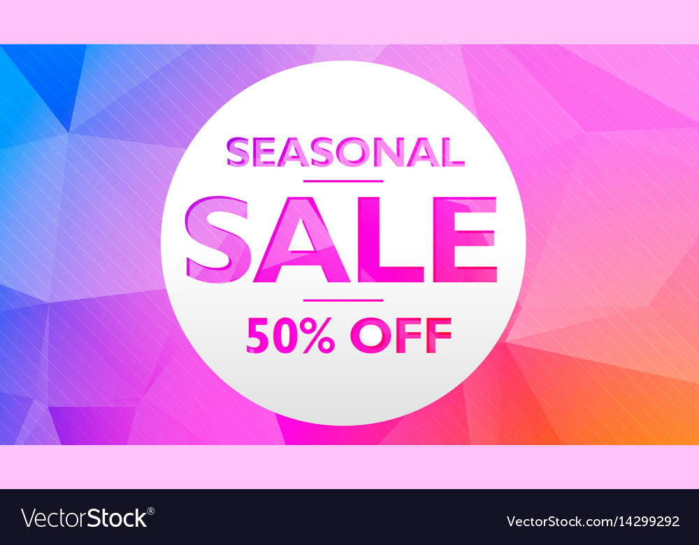 Seasonal sale offer and discount banner poster vector image
