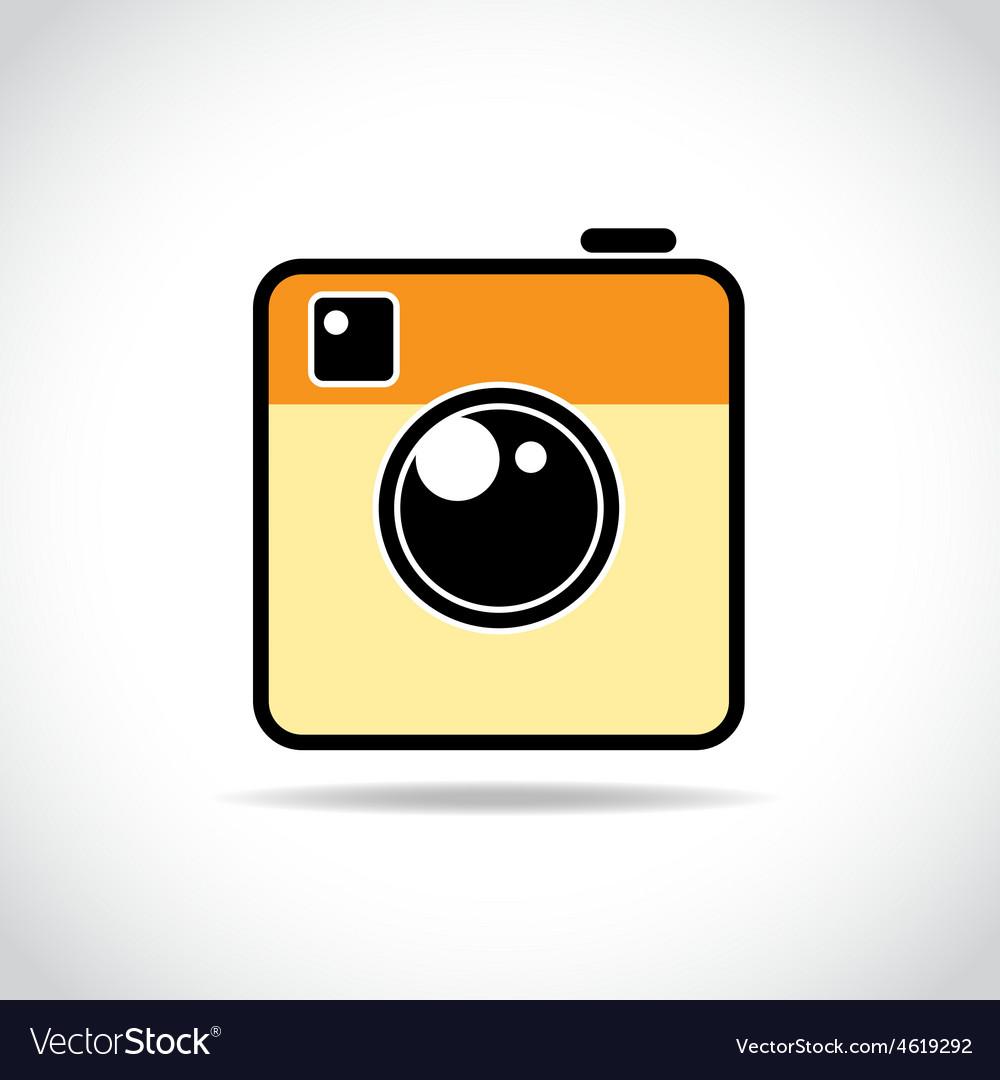 Trendy camera icon
