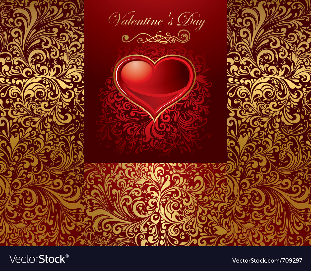 Beautiful card with golden heart