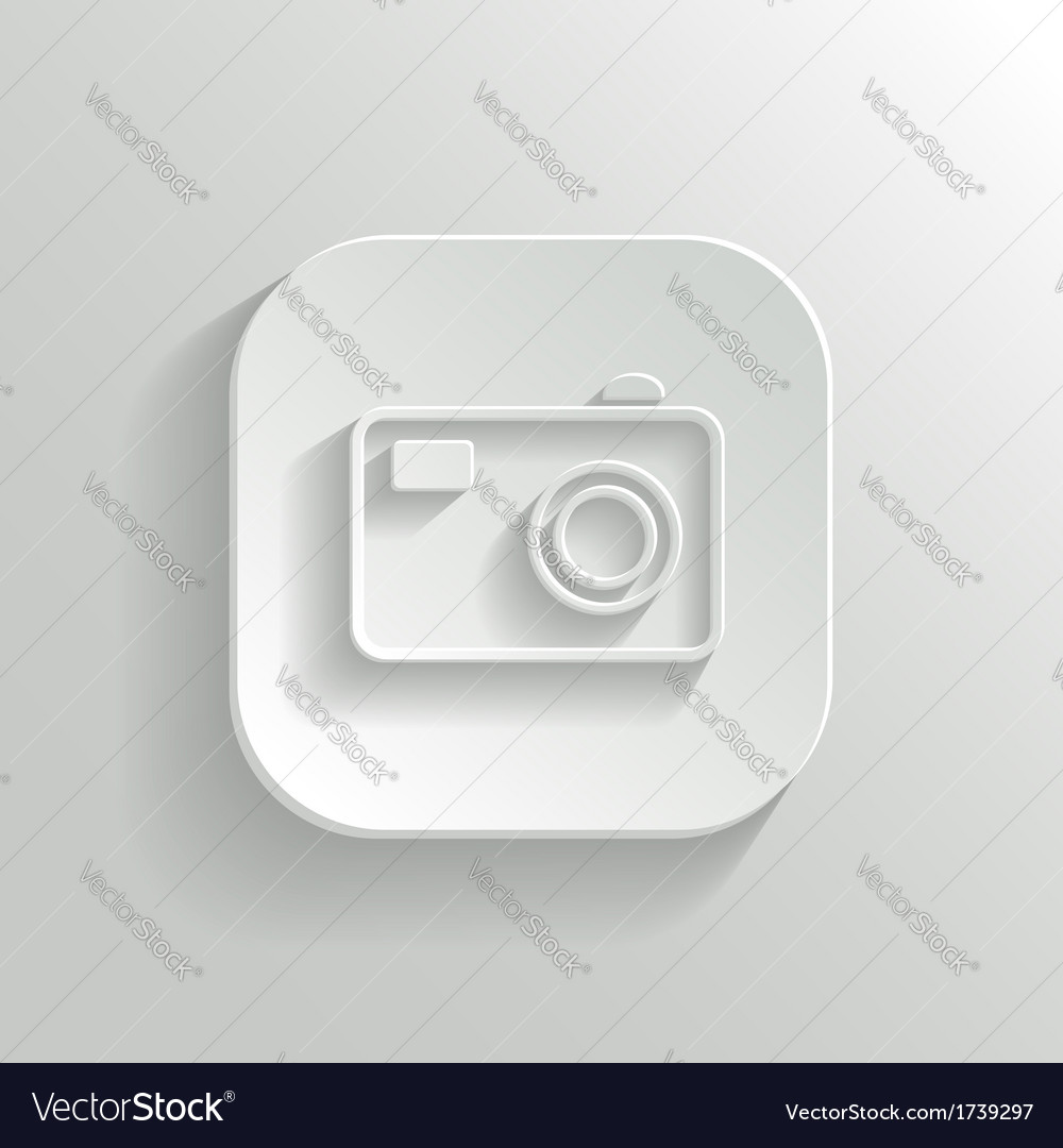 Camera icon - white app button