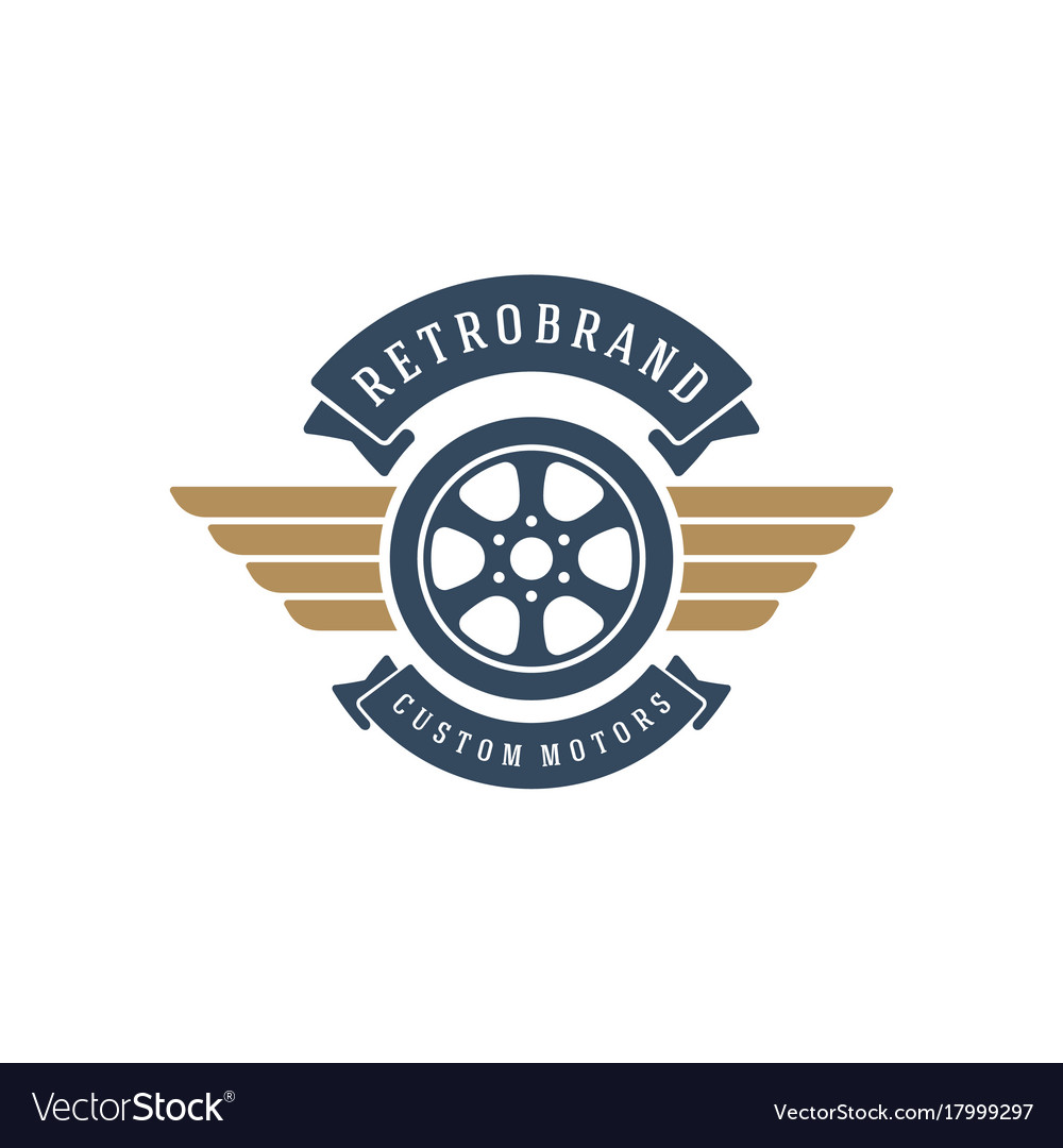Car Wheel Logo Template Design Element Royalty Free Vector