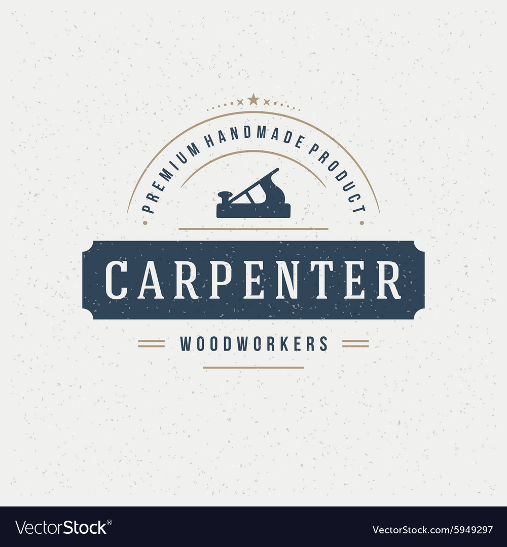 Carpenter Design Element in Vintage Style for