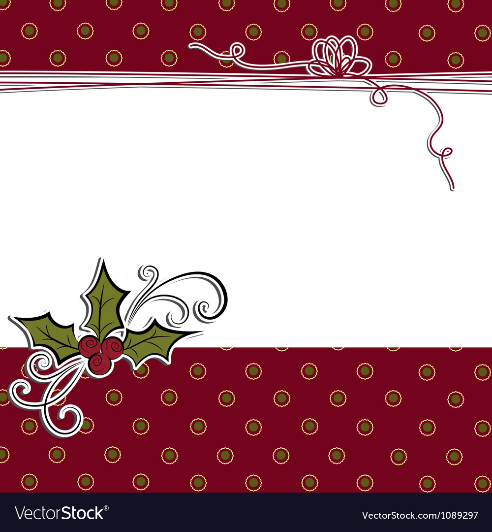 Cute christmas postcard template
