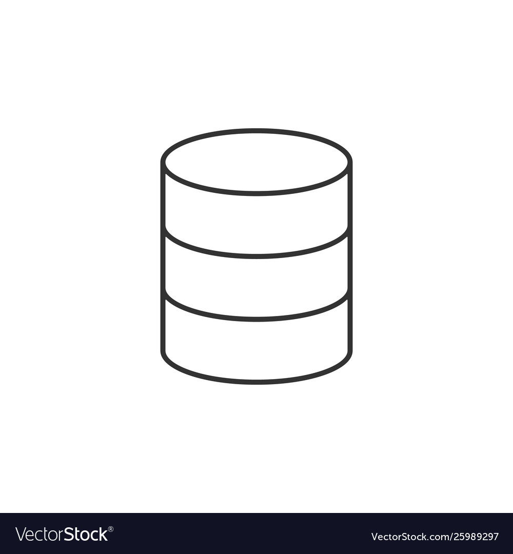 Data storage line icon simple modern flat for