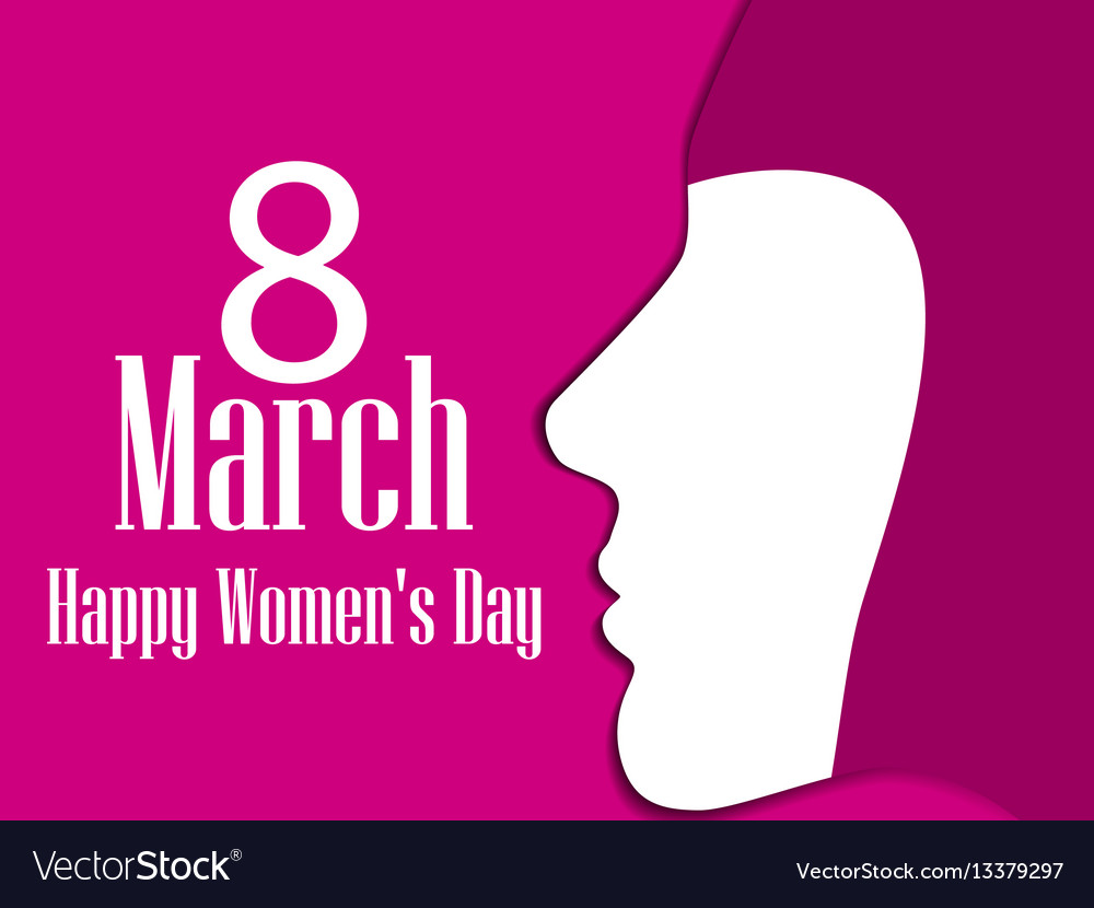 Happy womens day greeting card 8 march female
