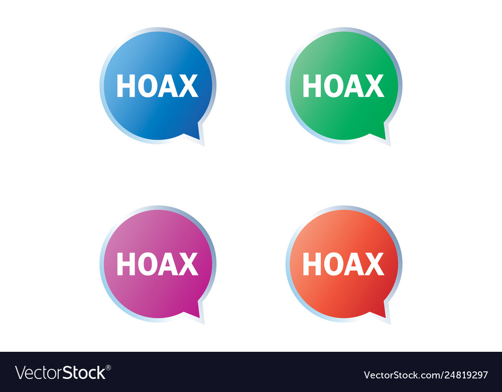 Hoax warning label set