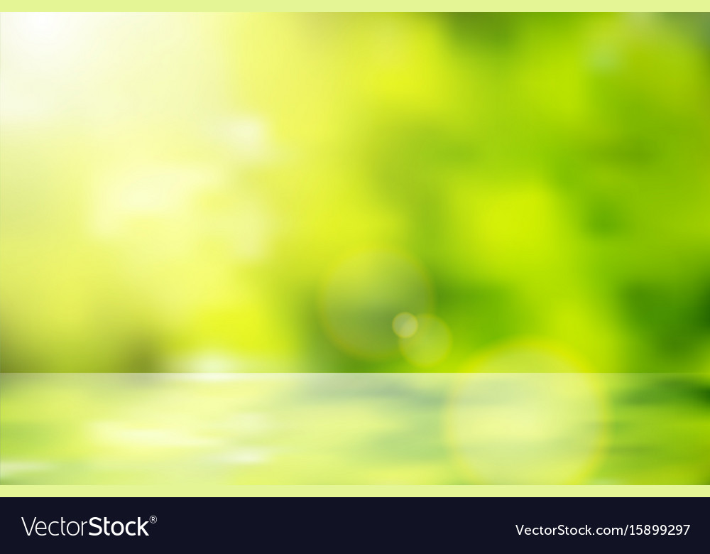Lens flare bokeh nature background