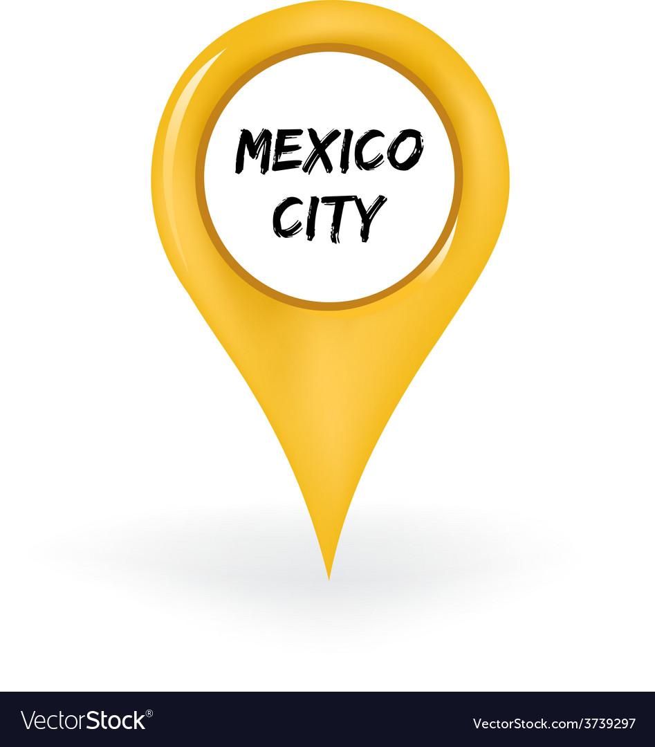 Location Mexico City Royalty Free Vector Image