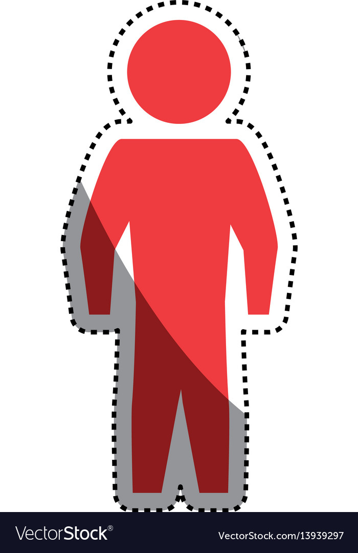 Man silhouette standing still vector image