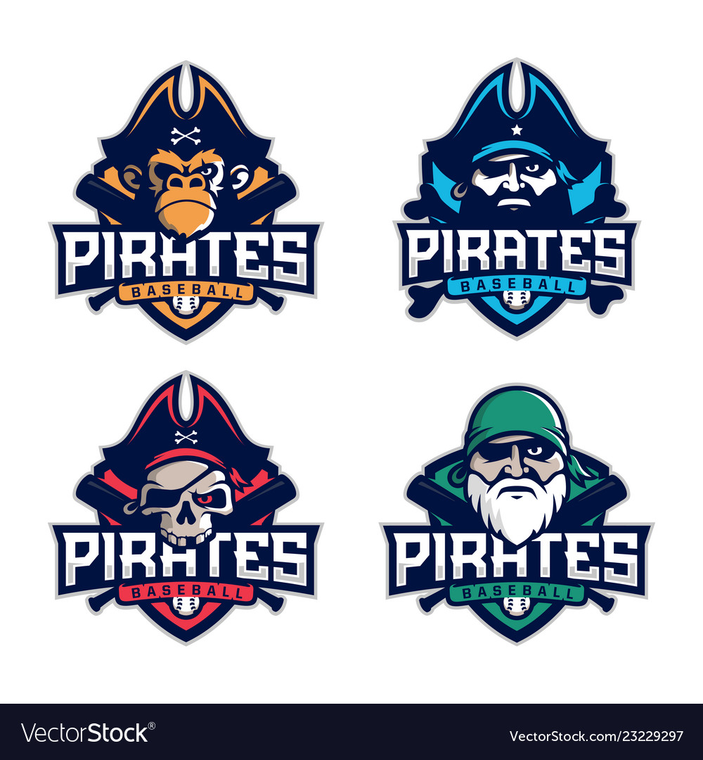 Modern professional set emblem pirates
