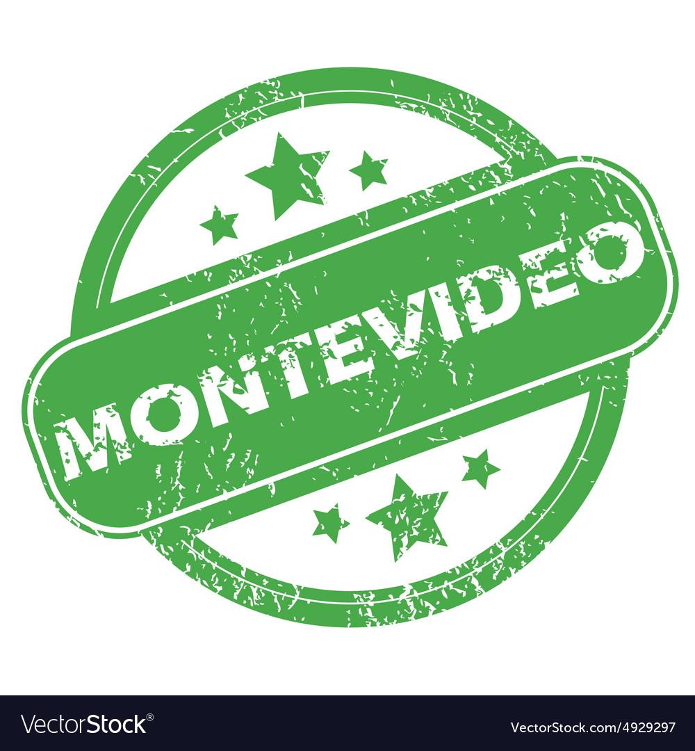 Montevideo green stamp vector image on VectorStock