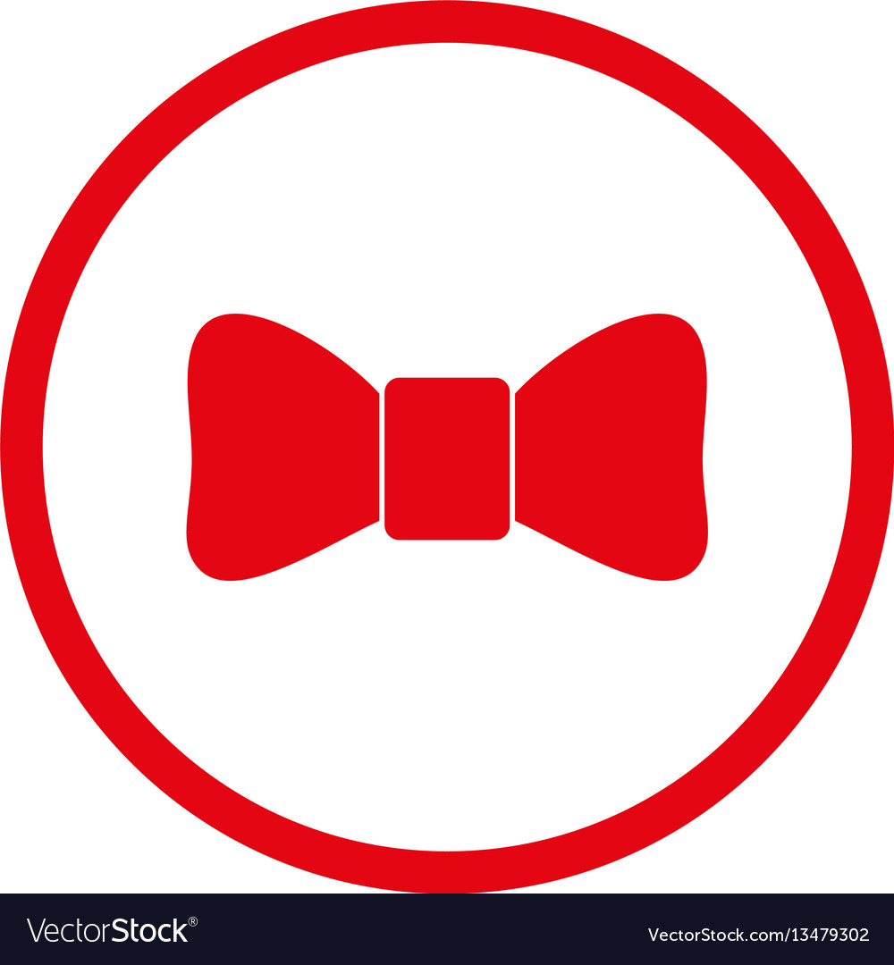 Bow tie rounded icon