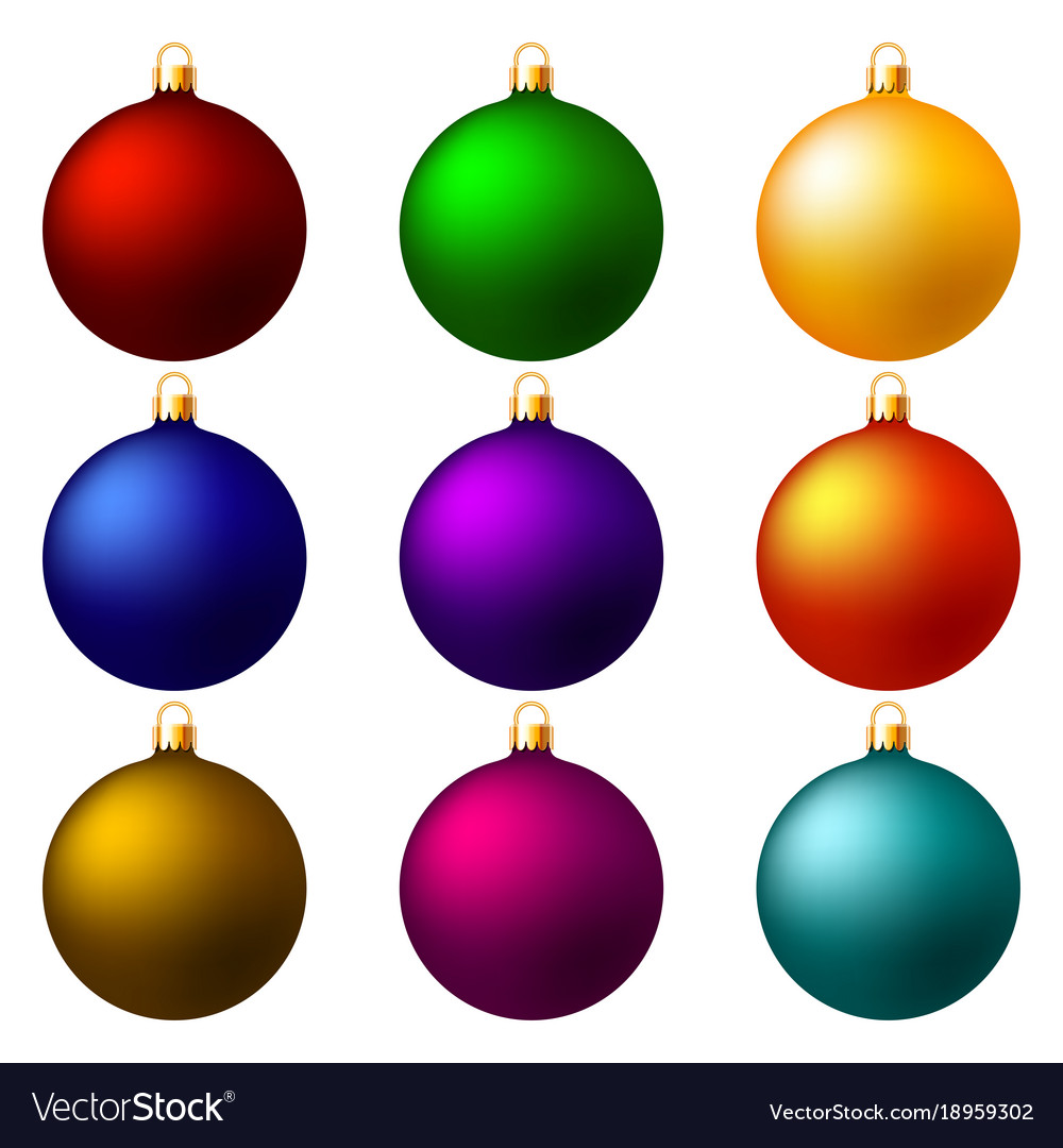 christmas balls christmas decorations vector image - Christmas Ball Decorations