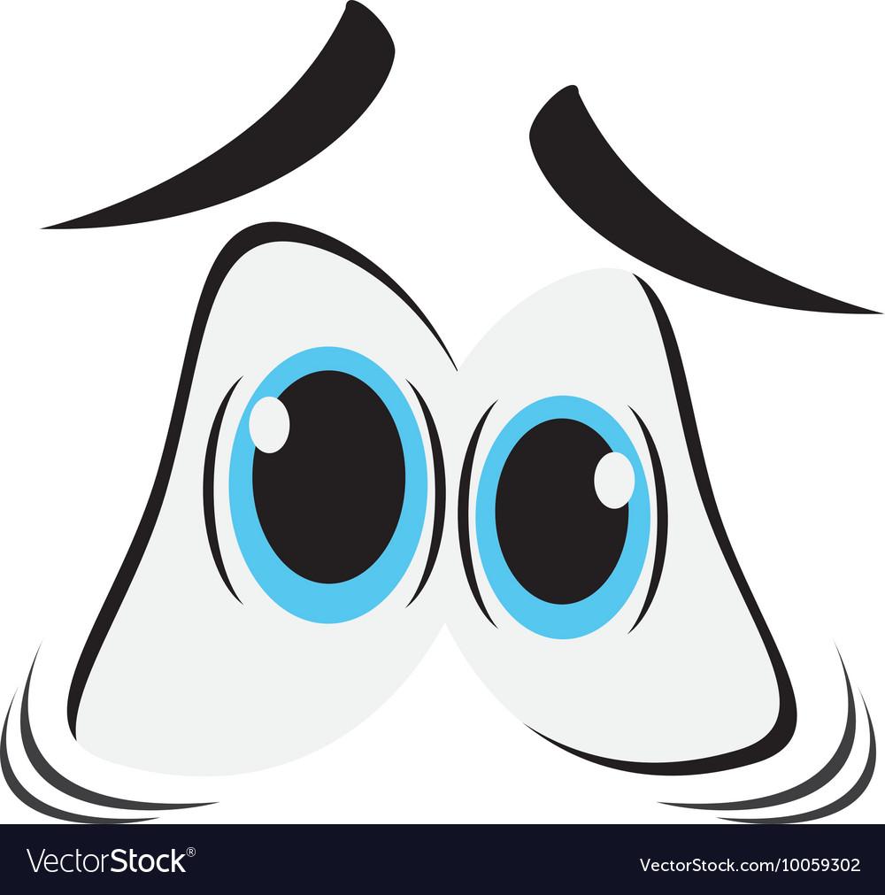 Frightened cartoon eyes icon