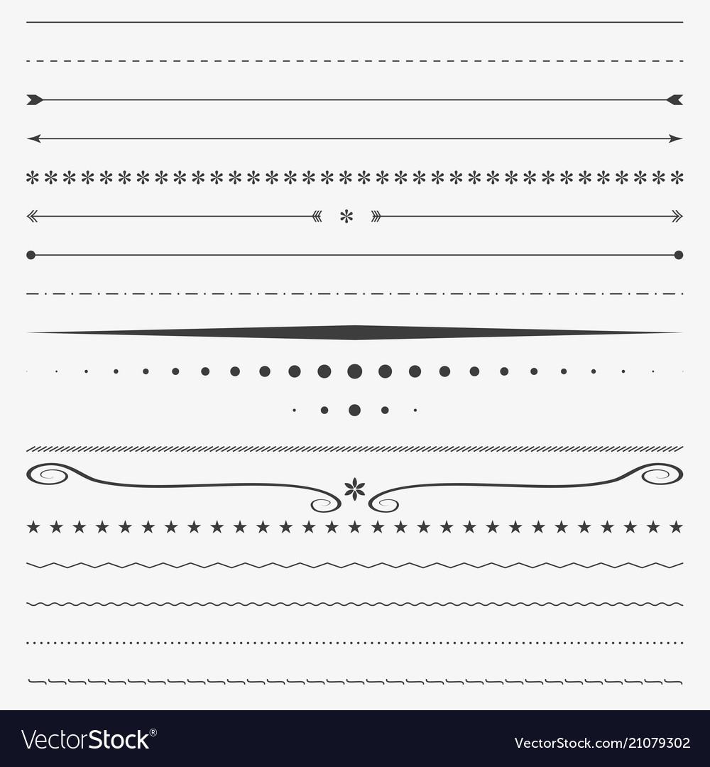 Line border corner design divider vector image