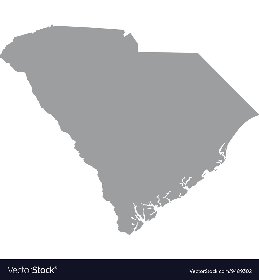 Map Us State Of South Carolina Royalty Free Vector Image