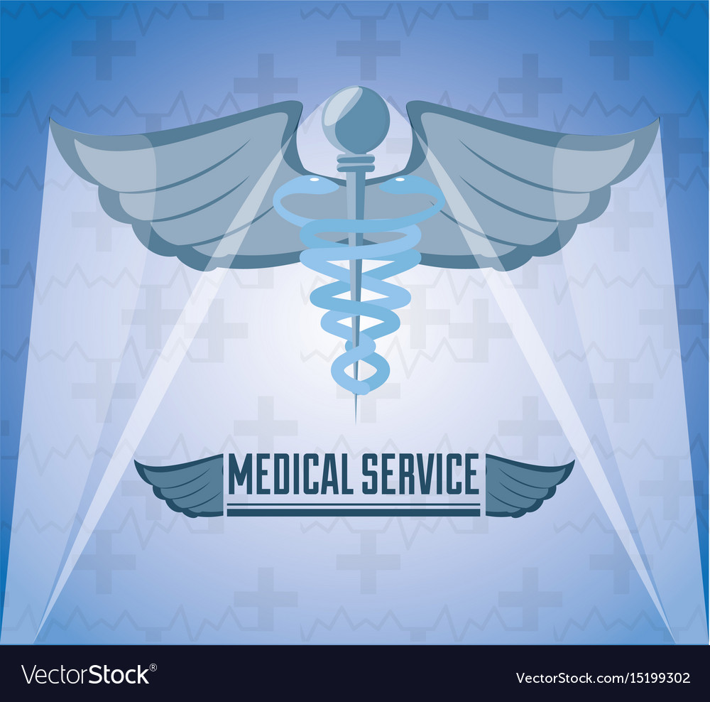 Medicine Symbol With Message Of Medical Service Vector Image