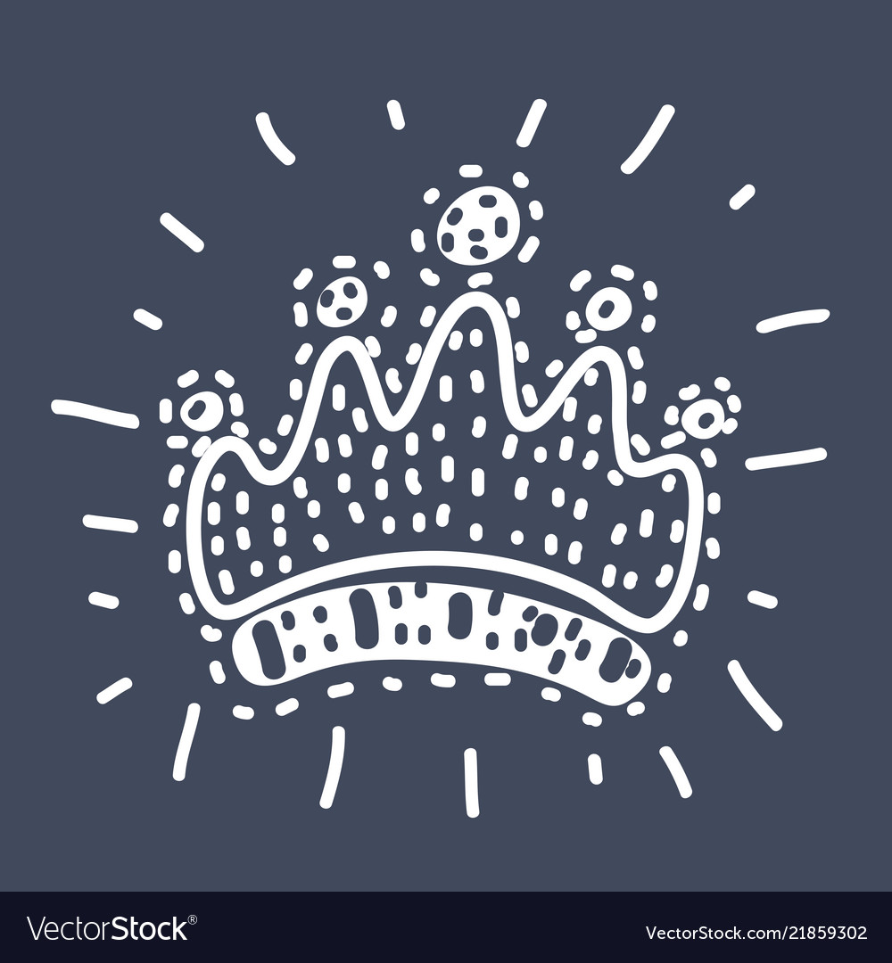 Queen crown line icon outline