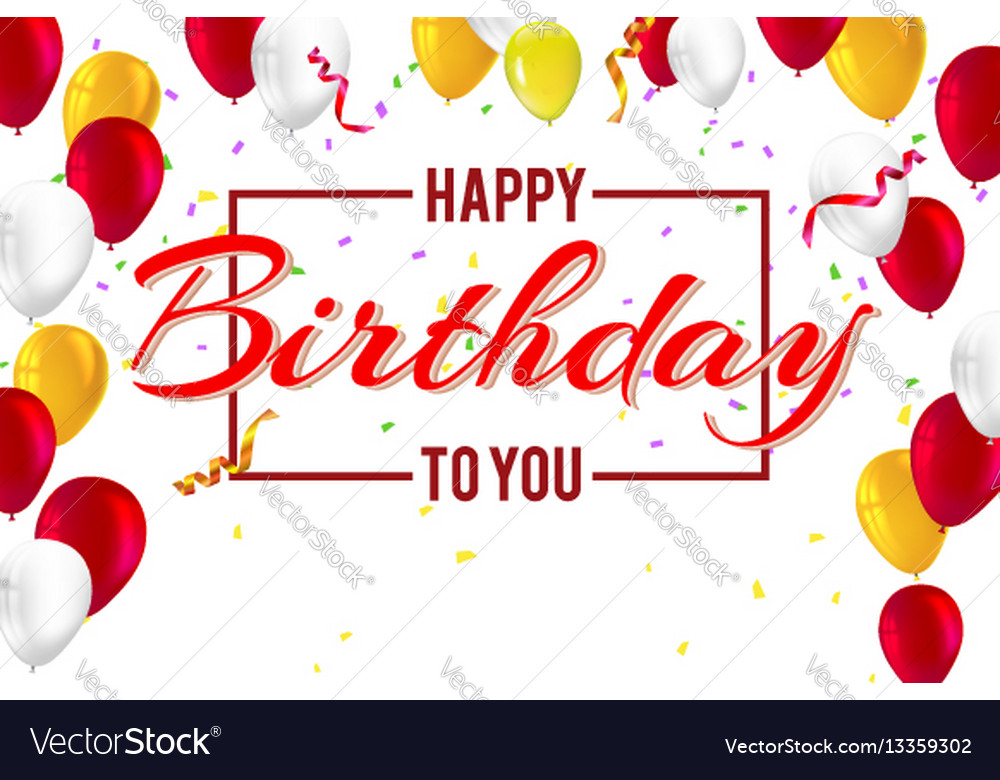 Stylish Greetings Happy Birthday Creative Car Vector Image