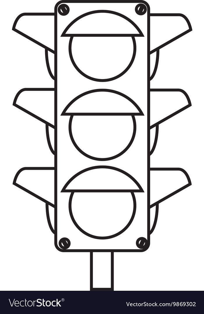 Traffic lights semaphore icon
