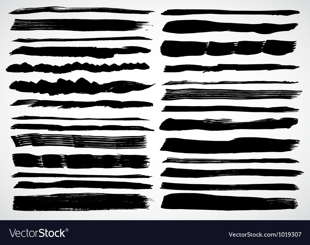 A set of grunge strokes