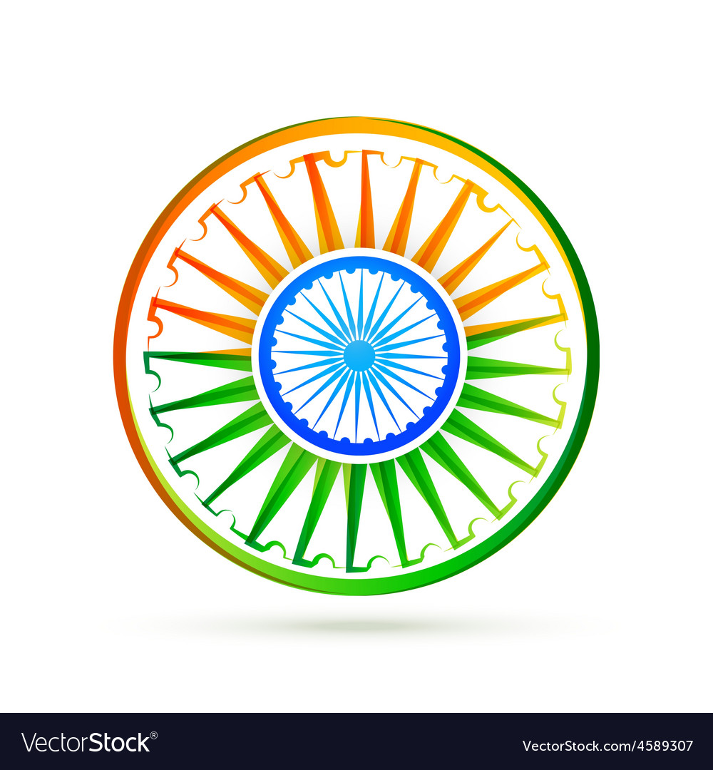 Beautiful creative indian flag design vector image