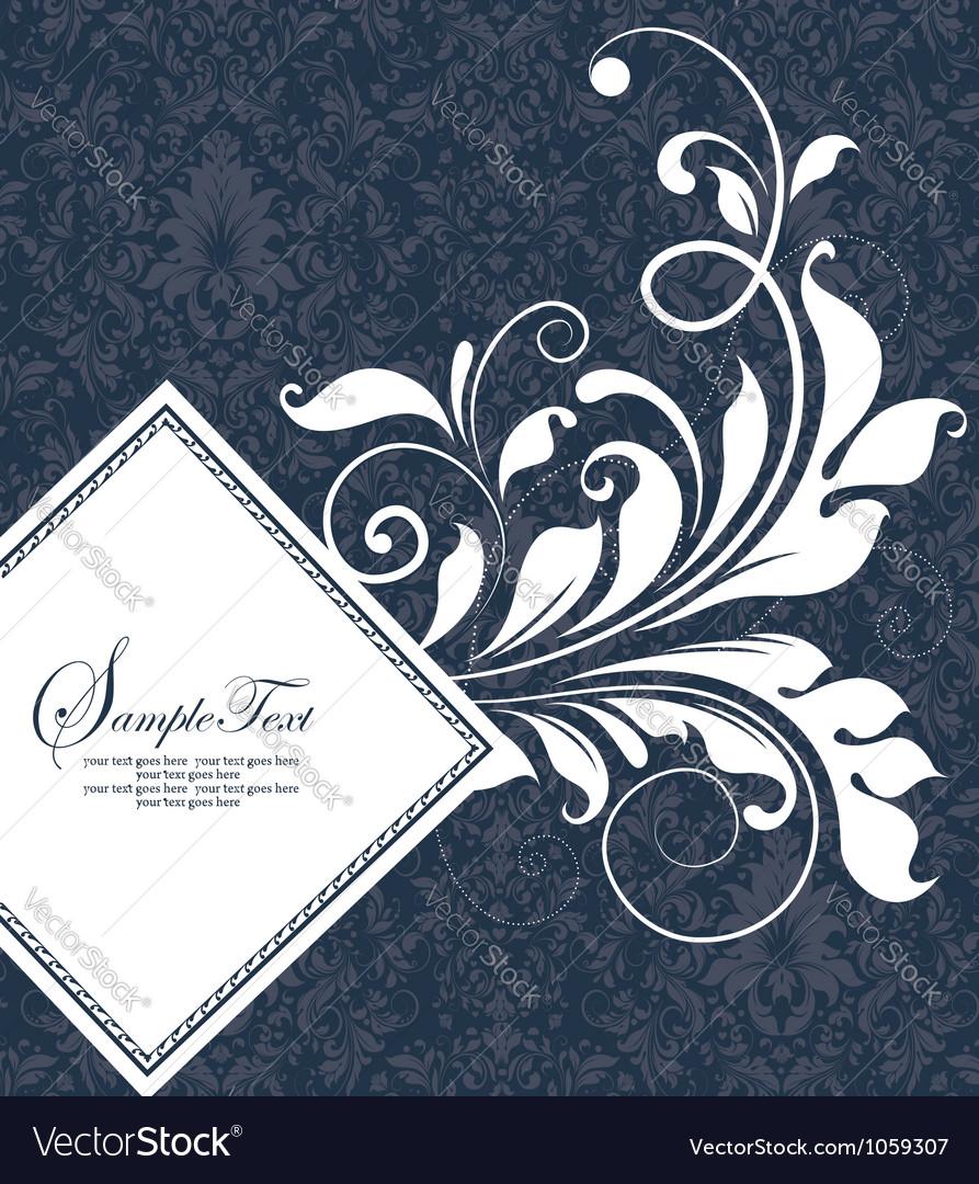 Damask wedding card
