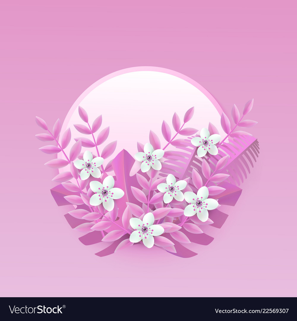 Floral with white cherry or