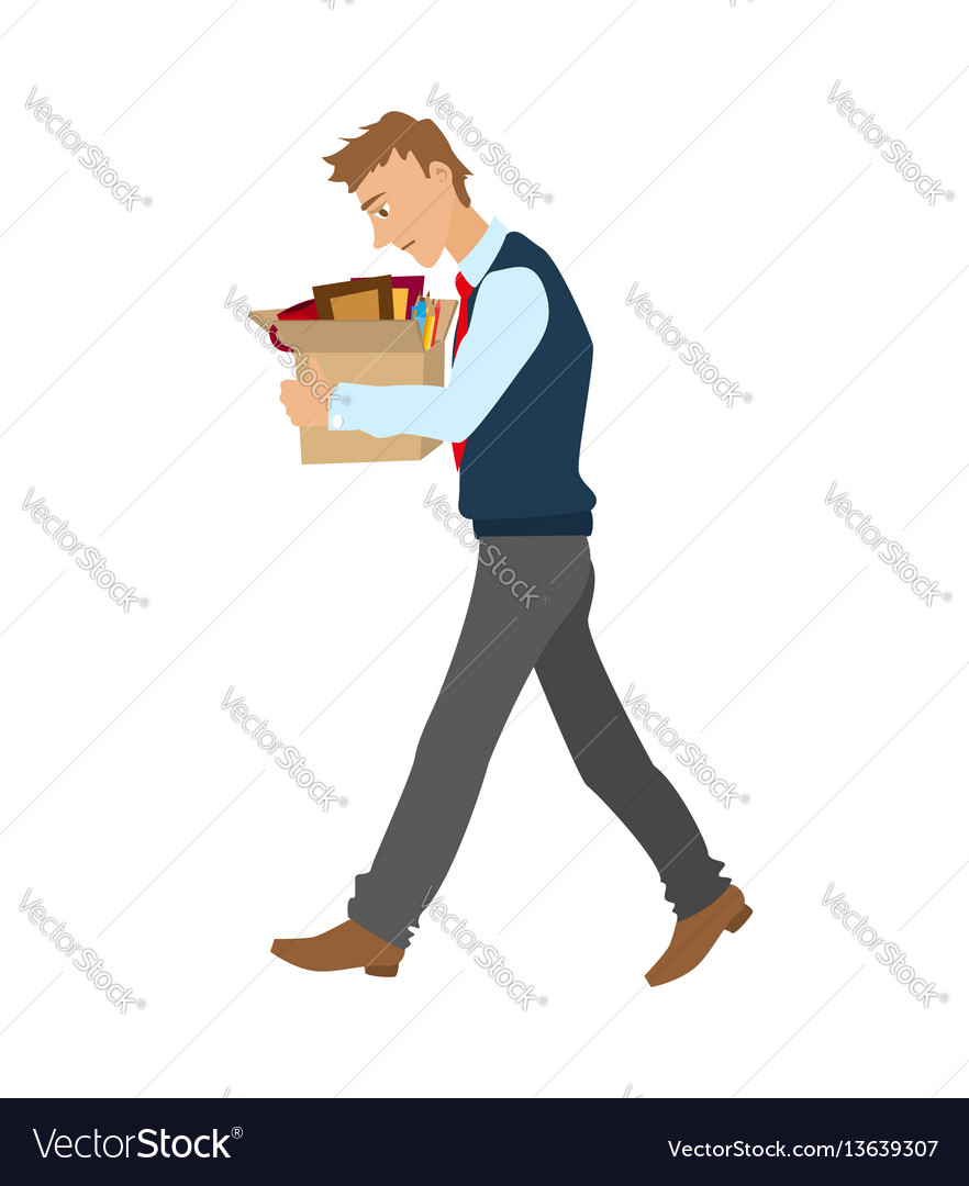 Getting fired flat man vector image