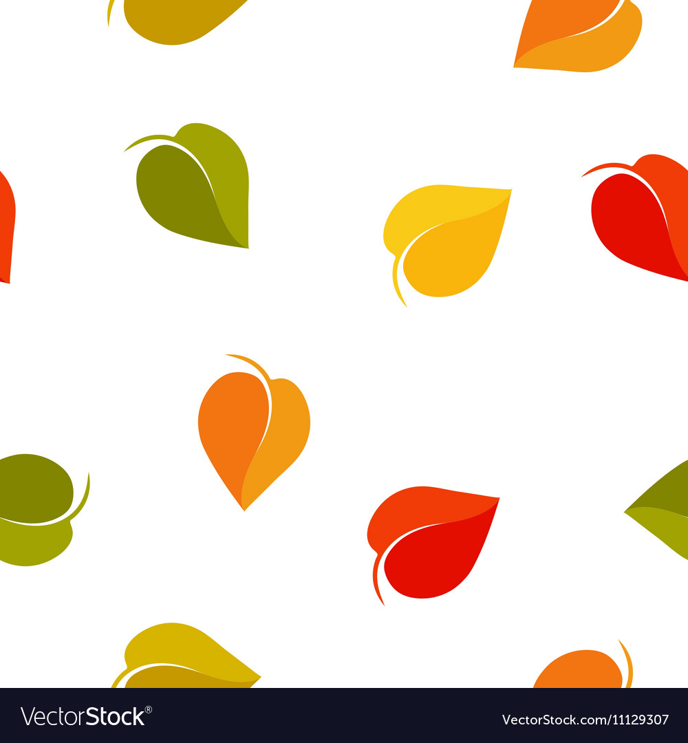 Isolated abstract colorful leaves background