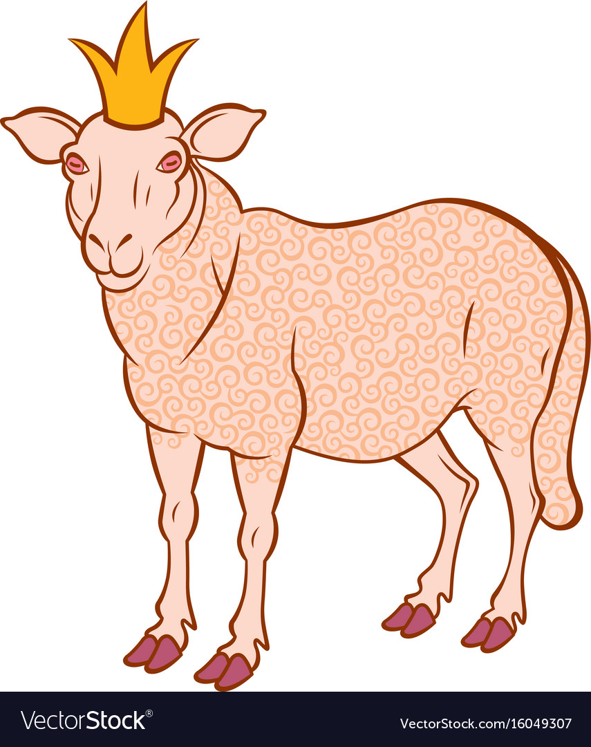 Sheep in the crown vector image
