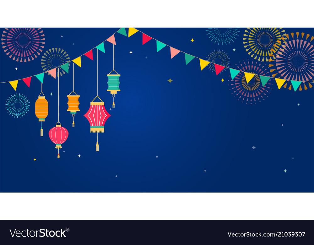 Sky lantern festival chinese thai flying