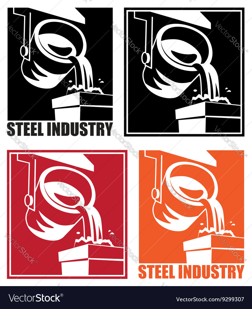 Steel industry vector image
