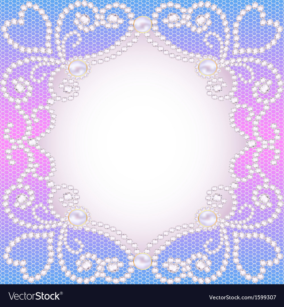 wedding background with frame ornament royalty free vector