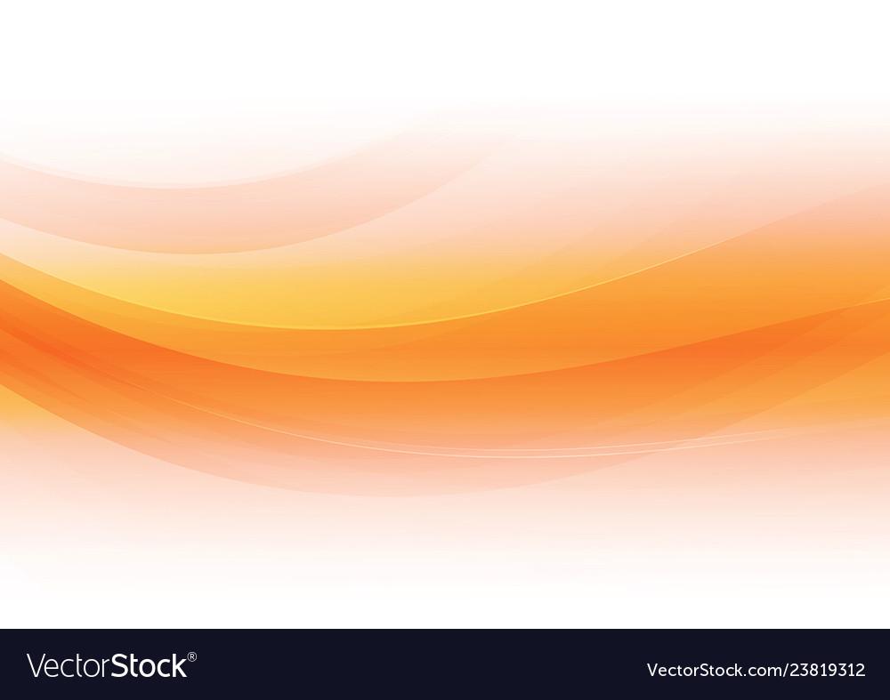 Abstract Orange On White Background