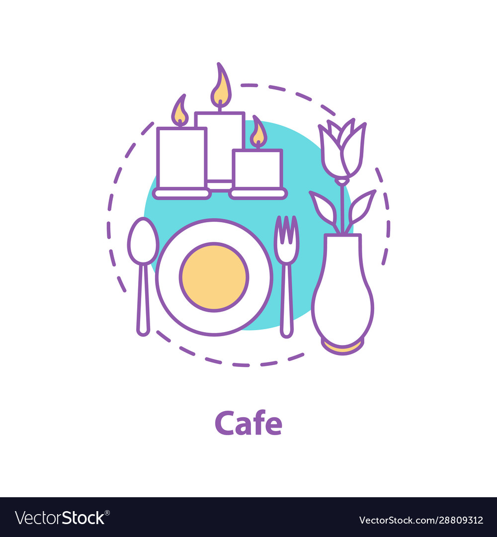 Cafe Or Restaurant Concept Icon Royalty Free Vector Image
