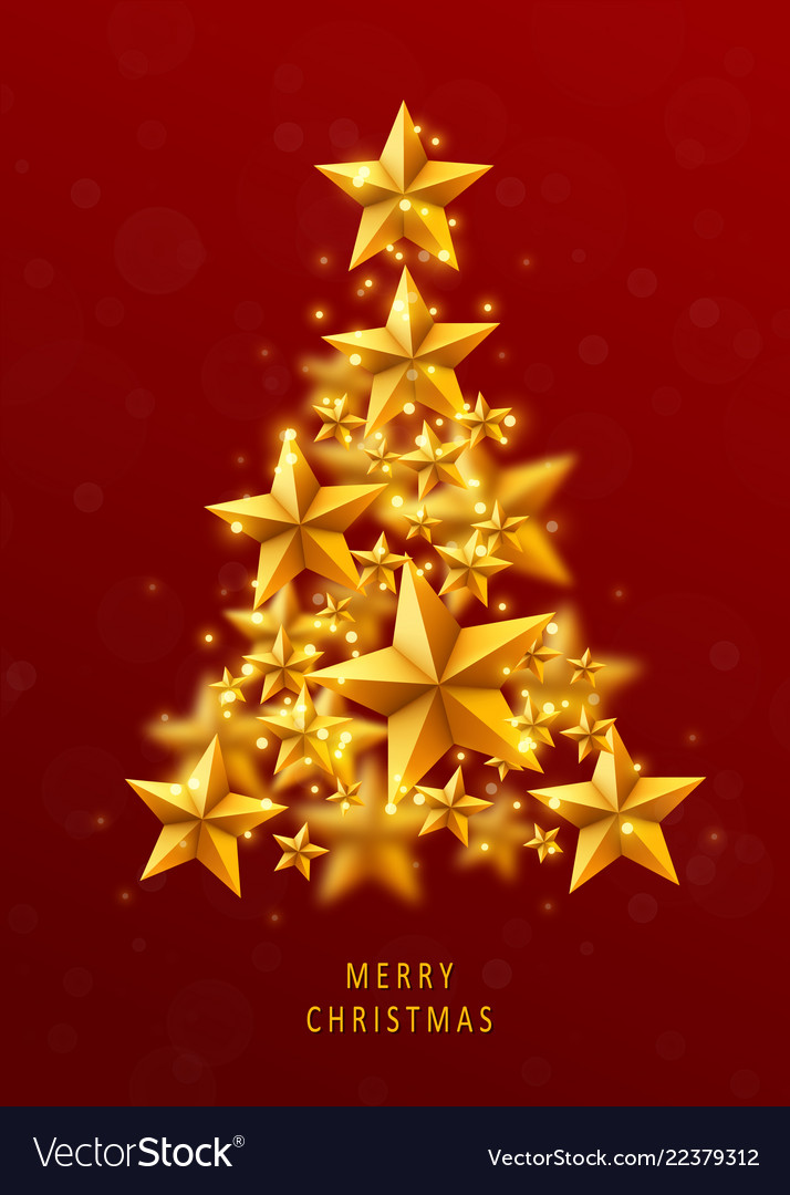 Christmas and new years red background with