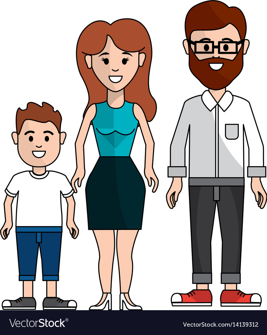 Couple with their son icon