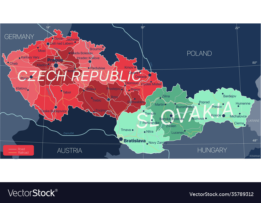 Czech republic and slovakia countries detailed