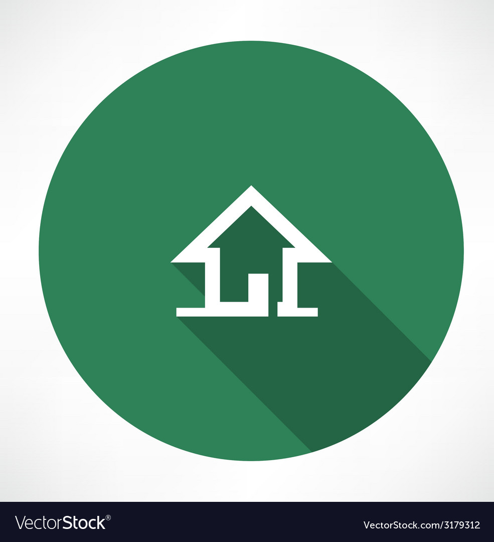 Little house icon vector image