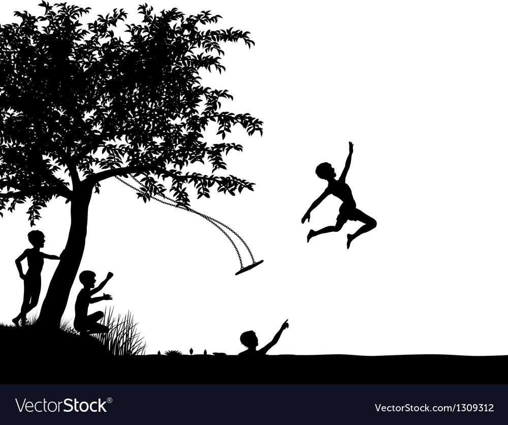 River leap vector image